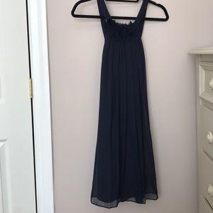 Alvina Valenta Navy Silk Chiffon Dress